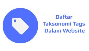 Daftar Taksonomi Tags