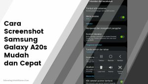Cara Screenshot Samsung Galaxy A20s Mudah dan Cepat